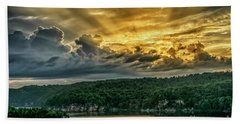 Summersville Lake Sunrise Hand Towel