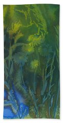 Summertime Impressions 3 Watercolor Hand Towel