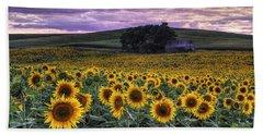 Summertime Sunflowers Bath Towel