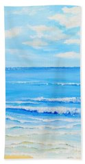 Hand Towel featuring the painting Summertime by Teresa Wegrzyn