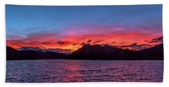 Summit Cove And Summerwood Sunset Hand Towel by Stephen Johnson
