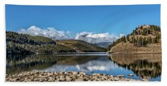 Bath Towel featuring the photograph Summit Cove November Snow by Stephen Johnson