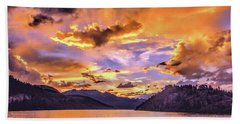 Summit Cove Sunset At Summerwood Hand Towel