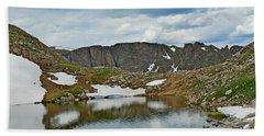 Summit Lake In Summer Hand Towel