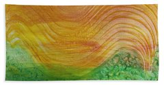 Sun And Grass In Harmony Hand Towel