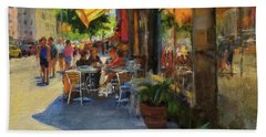 Sun And Shade On Amsterdam Avenue Hand Towel