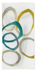 Sun And Sky- Abstract Art Hand Towel