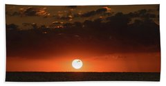 Sun Ball Sunrise Delray Beach Florida Hand Towel