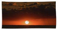 Sun Ball Sunrise Delray Beach Florida Hand Towel