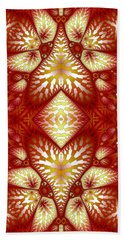 Sun Burnt Orange Fractal Phone Case Bath Towel by Lea Wiggins