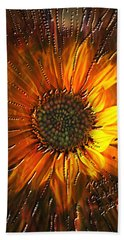 Hand Towel featuring the painting Sun Burst by Kevin Caudill