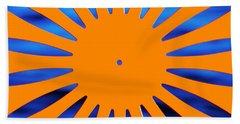 Sun Burst Hand Towel by Todd Klassy