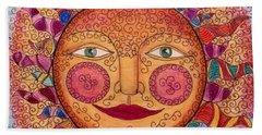 Bath Towel featuring the drawing Sun Dancing by Megan Walsh