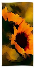 Sun Flower Hand Towel