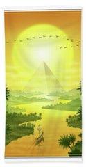 Hand Towel featuring the digital art Sun King by Scott Ross