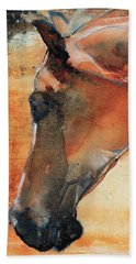Bath Towel featuring the painting Sun Kissed Abrabian by Jani Freimann