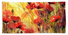 Sun Kissed Poppies Bath Towel