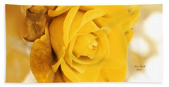 Hand Towel featuring the photograph Sun Kissed Rose by Athala Carole Bruckner
