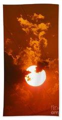 Sun On Fire Bath Towel