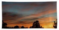 Sun Pillar Sunset Bath Towel by Jason Coward