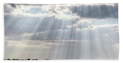 Sun Rays Over Lagoon Hand Towel