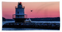 Sun Rise At Spring Point Hand Towel