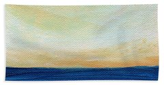 Sun Swept Coast- Abstract Seascape Bath Towel
