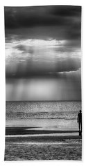 Sun Through The Clouds Bw 11x14 Hand Towel