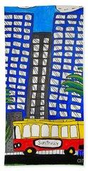 Sun Trolley Hand Towel by Brandon Drucker