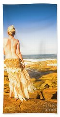Sunbathing By The Sea Bath Towel