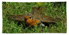 Sunbathing Robin Bath Towel