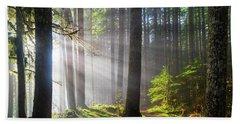 Sunbeams Along Hiking Trails Hand Towel