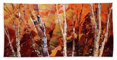 Hand Towel featuring the painting Sunburnt Solstice by Tatiana Iliina