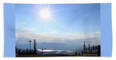 Sunburst Over Lake Dillon Hand Towel