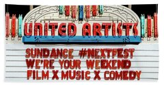 Sundance Next Fest Theatre Sign 1 Bath Towel