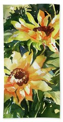 Hand Towel featuring the painting Sundance by Rae Andrews
