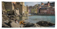 Sunday Afternoon In Vernazza Bath Towel