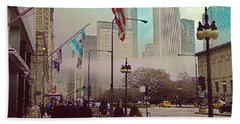 Sunday In The City Hand Towel by Kathie Chicoine