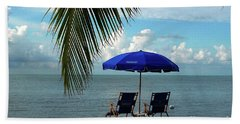 Sunday Morning At The Beach In Key West Hand Towel