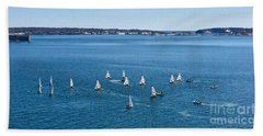 Sunday Sailing School On Casco Bay Hand Towel