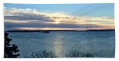 Sunday Sunrise On Casco Bay Hand Towel