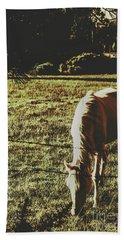 Sundown Horse Meadow Bath Towel