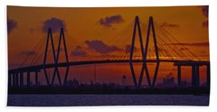 Sundown In Baytown Hand Towel