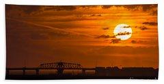 Sundown On The Charleston Coast  Hand Towel