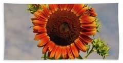 Sunflower 2016 2 Of 5 Hand Towel by Tina M Wenger