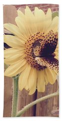 Sunflower And Butterfly Bath Towel