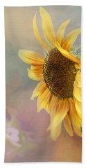 Sunflower Art - Be The Sunflower Hand Towel