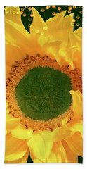 Sunflower Art Bath Towel