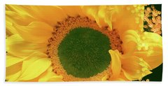 Sunflower Art Bath Towel