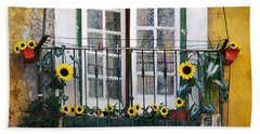 Sunflower Balcony Hand Towel